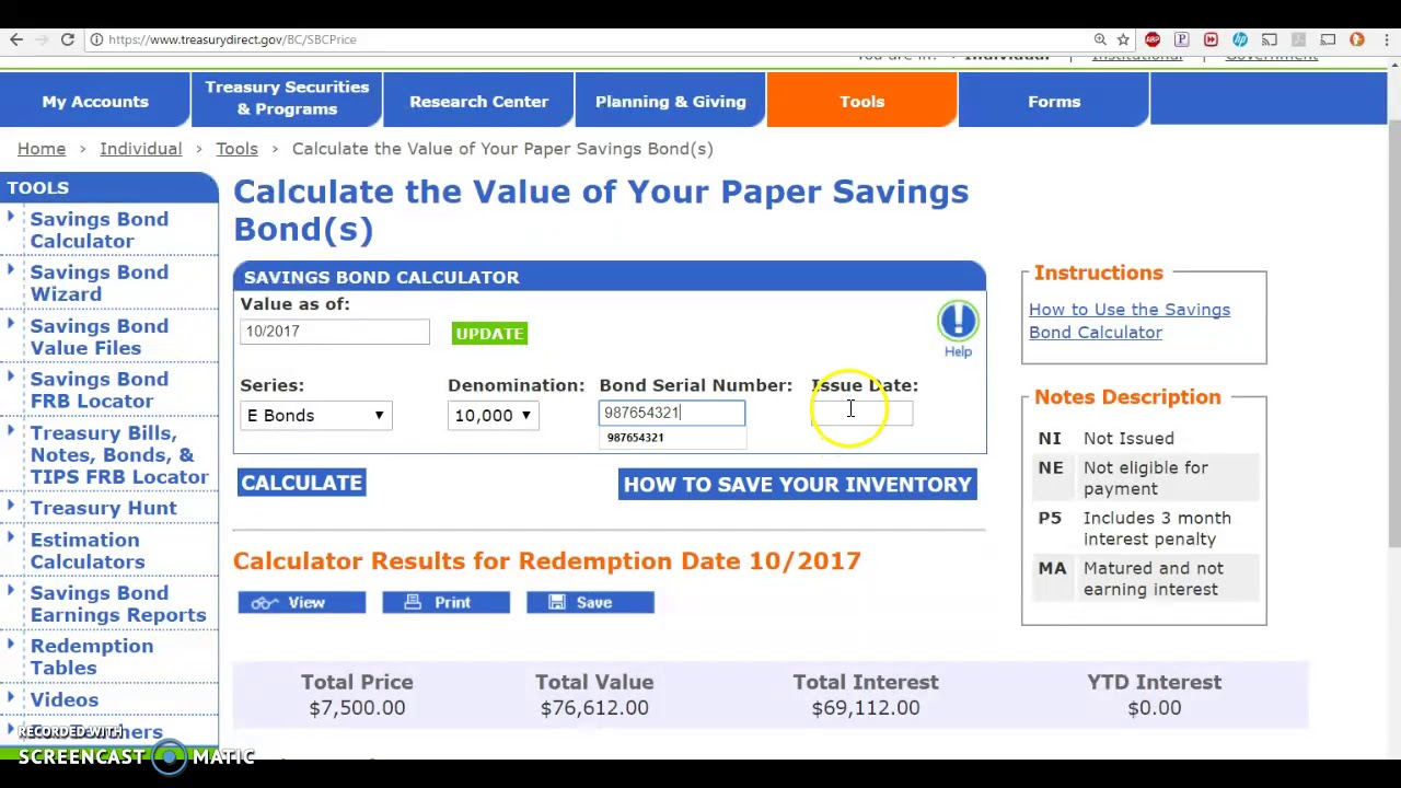 TDA Account Bonds, Calculate your Bond Value Lies! - YouTube