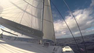 600 miles from Canaries 2014 Thanksgiving on Davali Outremer 45