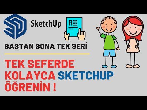 SketchUp Temel Eğitim Dersleri Full İçerik - Sketchup Eğitim Seti
