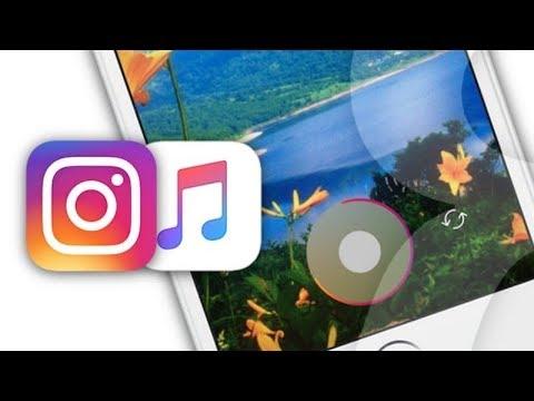 Как в инстаграмме сделать музыку на фото
