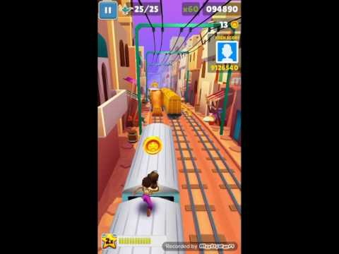 Jump and land on a train 10 or 12 times in a row [ Subway Surfers ]