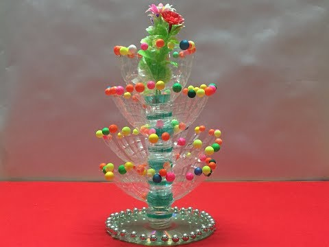 Plastic bottle flower pot|best use of waste bottles|Best out of waste