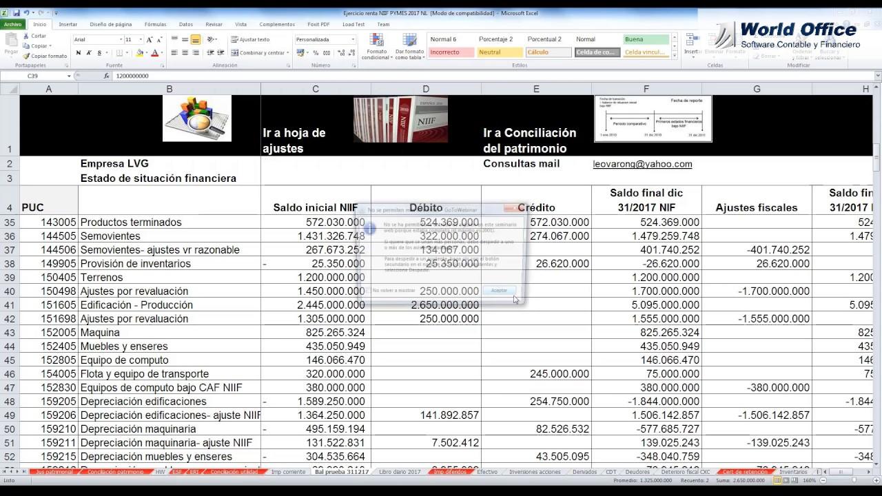 Ejercicio Práctico Formato 2516 Conciliación Fiscal - Anexo ...
