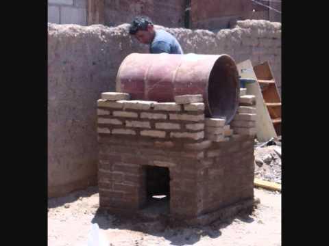 Como construir un horno de barro y compartir con la for Horno de lena con hornilla