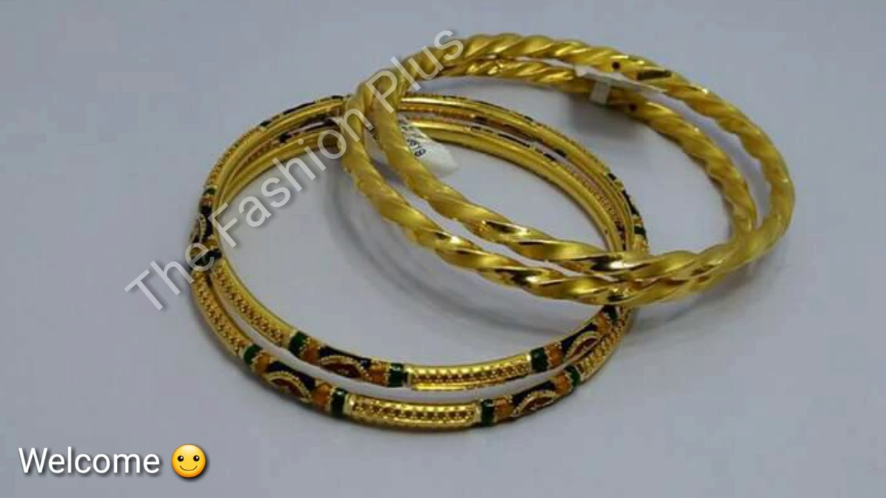 Latest Light Weight Gold BANGLES |BALA Designs - YouTube
