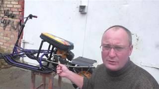 Детский снегоход с двигателем от бензотриммера