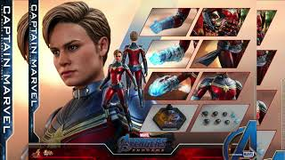 Avengers Endgame Hot Toys Captain Marvel 1/6 Scale Collectible Figure Reveal!