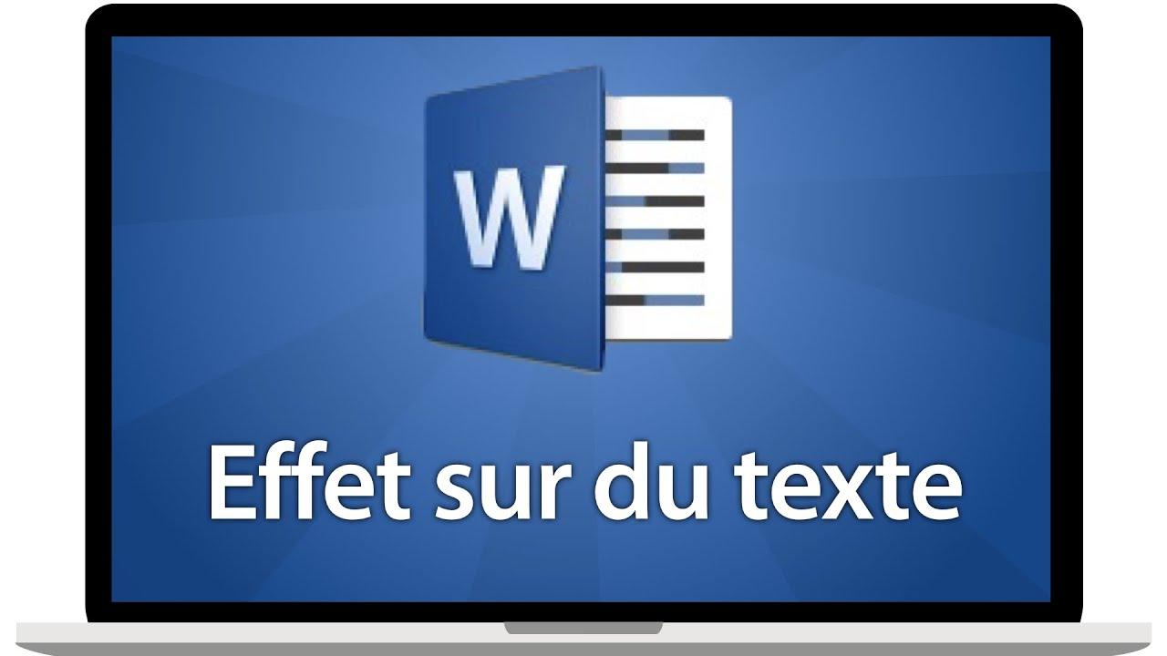 Ajouter un contour, une ombre, un reflet ou un éclat sur un texte sur Word