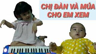 Anna Đàn Và Múa Cho Em Sam Sam Xem - SaNa Kids TV