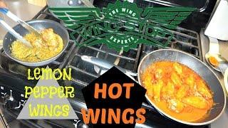 WINGSTOP Copycat Recipe | Lemon Pepper Wings & Hot Wings