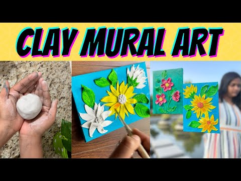 CLAY MURAL PAINTINGS FOR BEGINNERS | 3D Mural | Easy Air Dry Clay Projects | Art n You