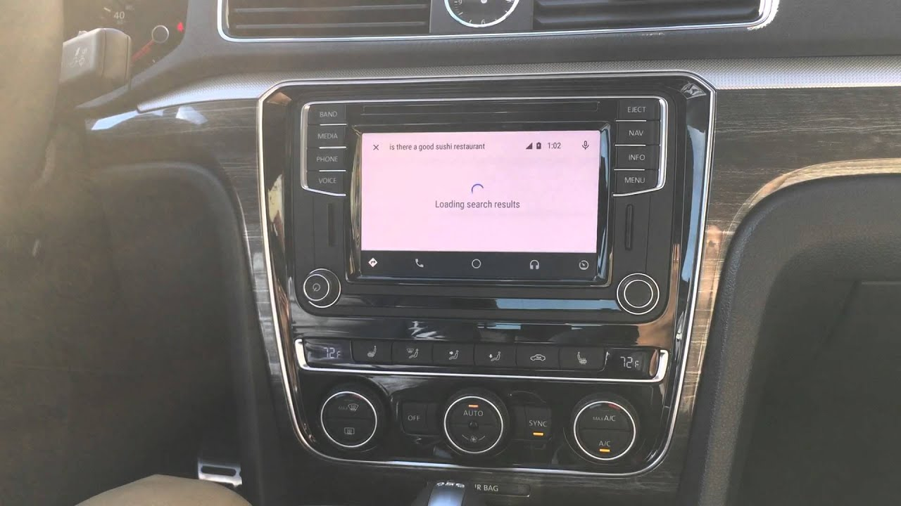 android auto demo in the 2016 vw passat youtube. Black Bedroom Furniture Sets. Home Design Ideas