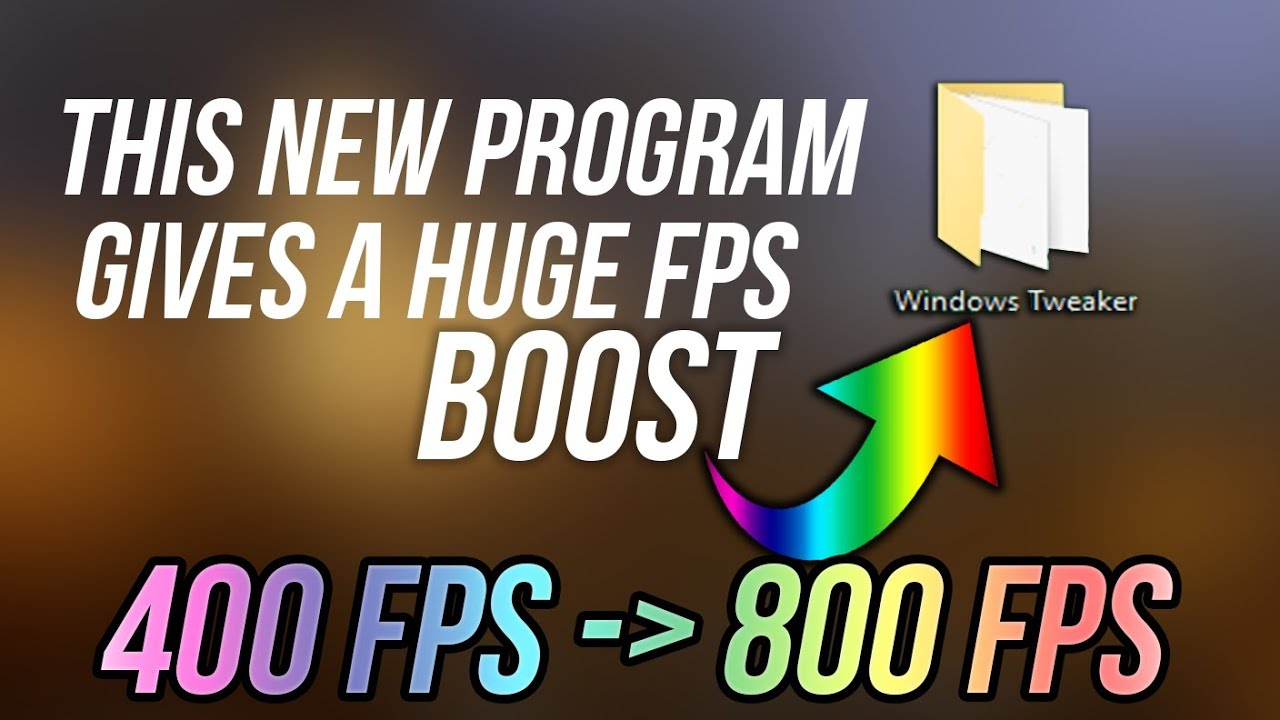 👍 MORE FPS By using this PROGRAM (NEVER RELEASED)