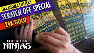 VGT SLOTS  - OKLAHOMA LOTTERY SCRATCHERS 24K GOLD SPECIAL EDITION PART 2