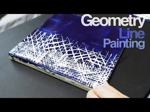 Abstract Painting L Easy Painting L Acrylics L Geometry Wallpaper