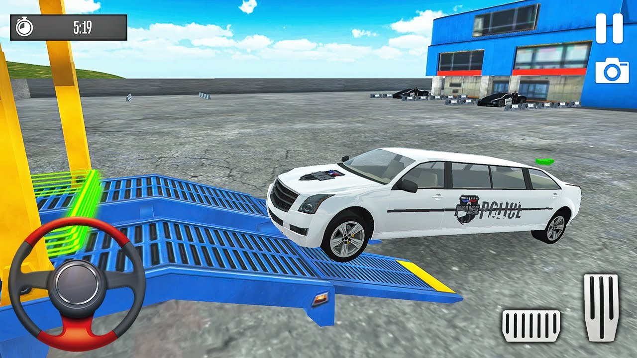 Transporting Police Limousine in Cargo Plane - Police Car Transporter Simulator - Android Gameplay