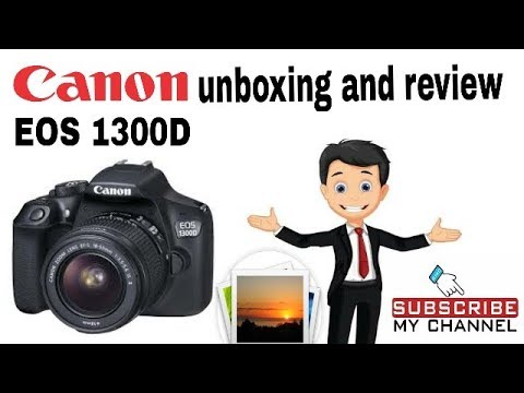 Canon eos 1300D unboxing and review