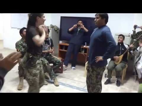 AMERICAN GIRL AFGHAN SOLDIER DANCE