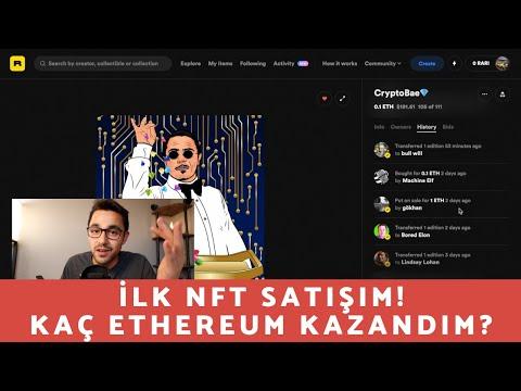 İlk NFT'mi Sattım! $$ Kaç Ethereum Kazandım?
