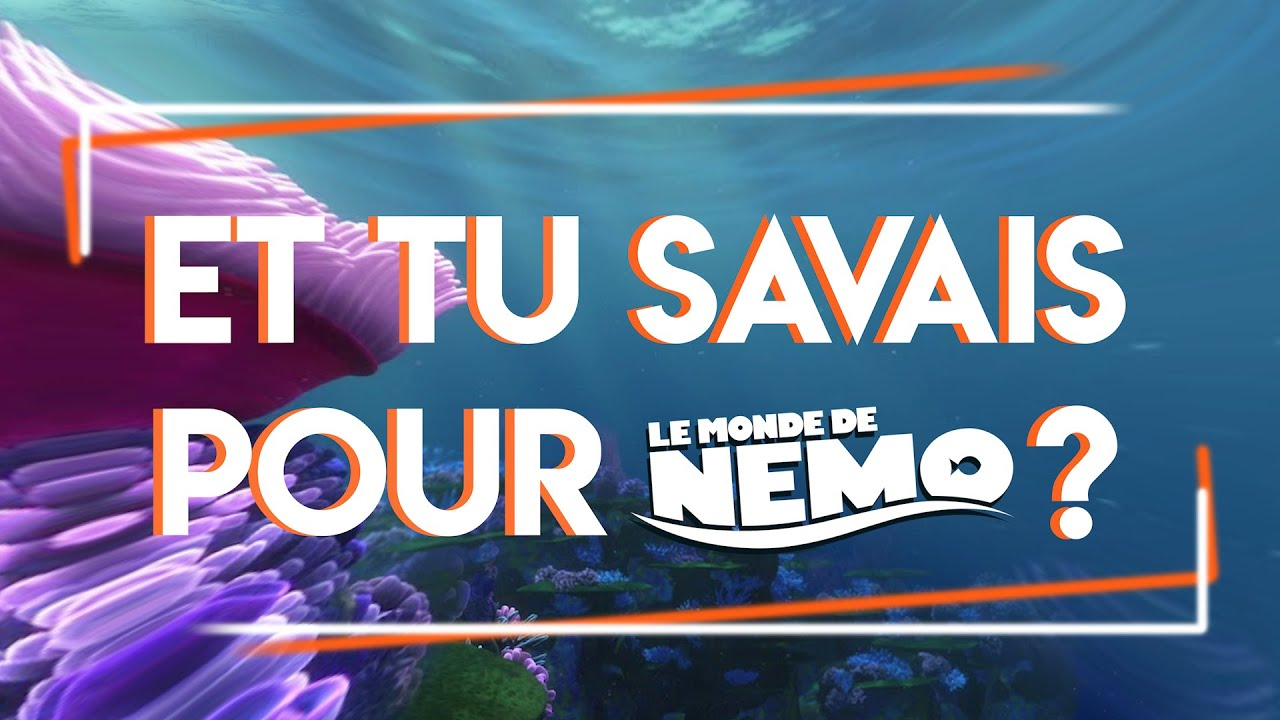 Download Et tu savais pour Le Monde de Nemo ?