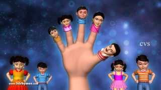 Father finger where are you - 3D Animation Finger family Nursery rhyme for children