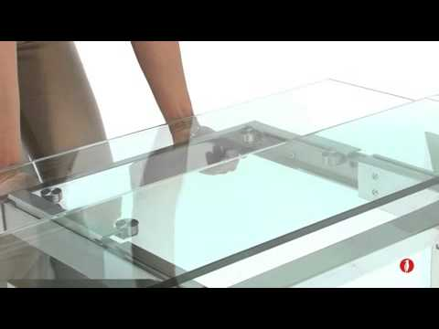 cs/4057-r calligaris tower extendable dining table - youtube