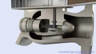 Тестовый рендер модели клапана Mokveld