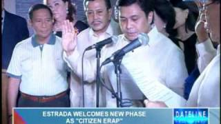 Estrada welcomes new role as 'Citizen Erap'