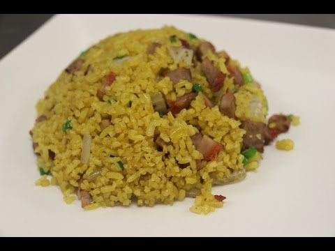 How To Make Yellow Fried Rice (Pork Fried Rice)