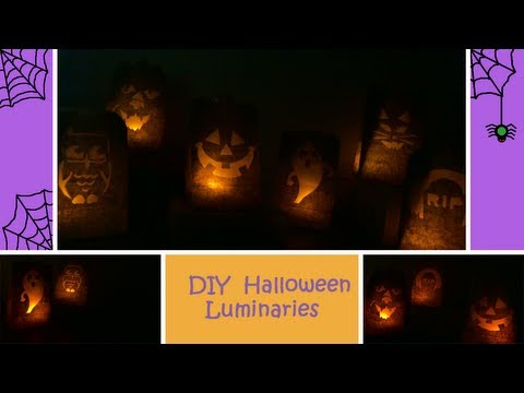 DIY Halloween Luminaries (Cheap and Simple)