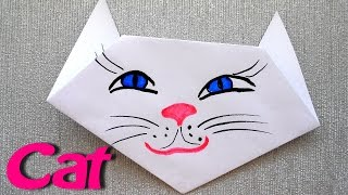 How to make a Cat for a Minute? Origami for Beginners. Very easy