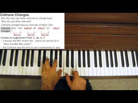 Jazz Piano Tutorial - Coltrane Changes Explained - YouTube