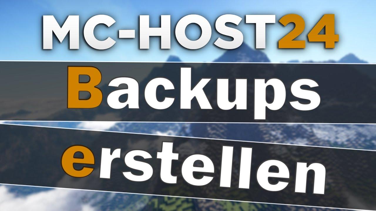 MCHost Backups Von Server Welt Erstellen Tipps Tricks - Minecraft server neue welt erstellen befehl