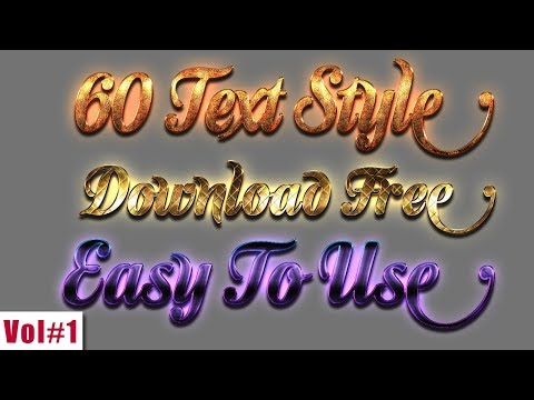 60 Best Text Style For Photoshop And How To Use Text Style Vol#1 2018 [desimesikho]