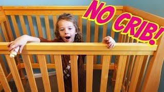 No Crib For Ava! Baby Adam Escapes The Crib & Sandra Gives New Cars Toddler Bed + Barbie Cruise Ship