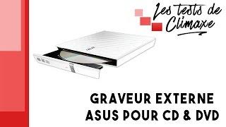 Test d'un graveur externe CD - DVD Asus SDRW-08D2S-U LITE (vidéo sans la voix)