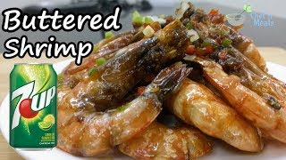 7 Up Buttered Shrimp (cook in less than 8 minutes)
