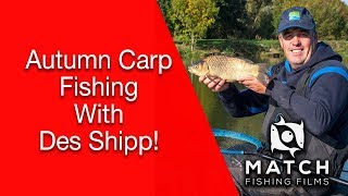 We join Des Shipp at moorlands farm fishery to look at his pole carp tactics!
