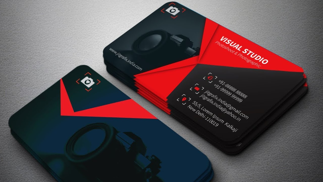 827d178bac901 Professional Business Card Design Tutorial~Create a Print Ready   visitingcard in Illustrator