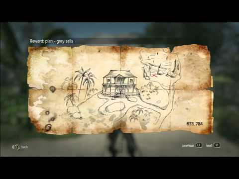 Assassin´s Creed 4 - Treasure Map - 633, 784 Nassau