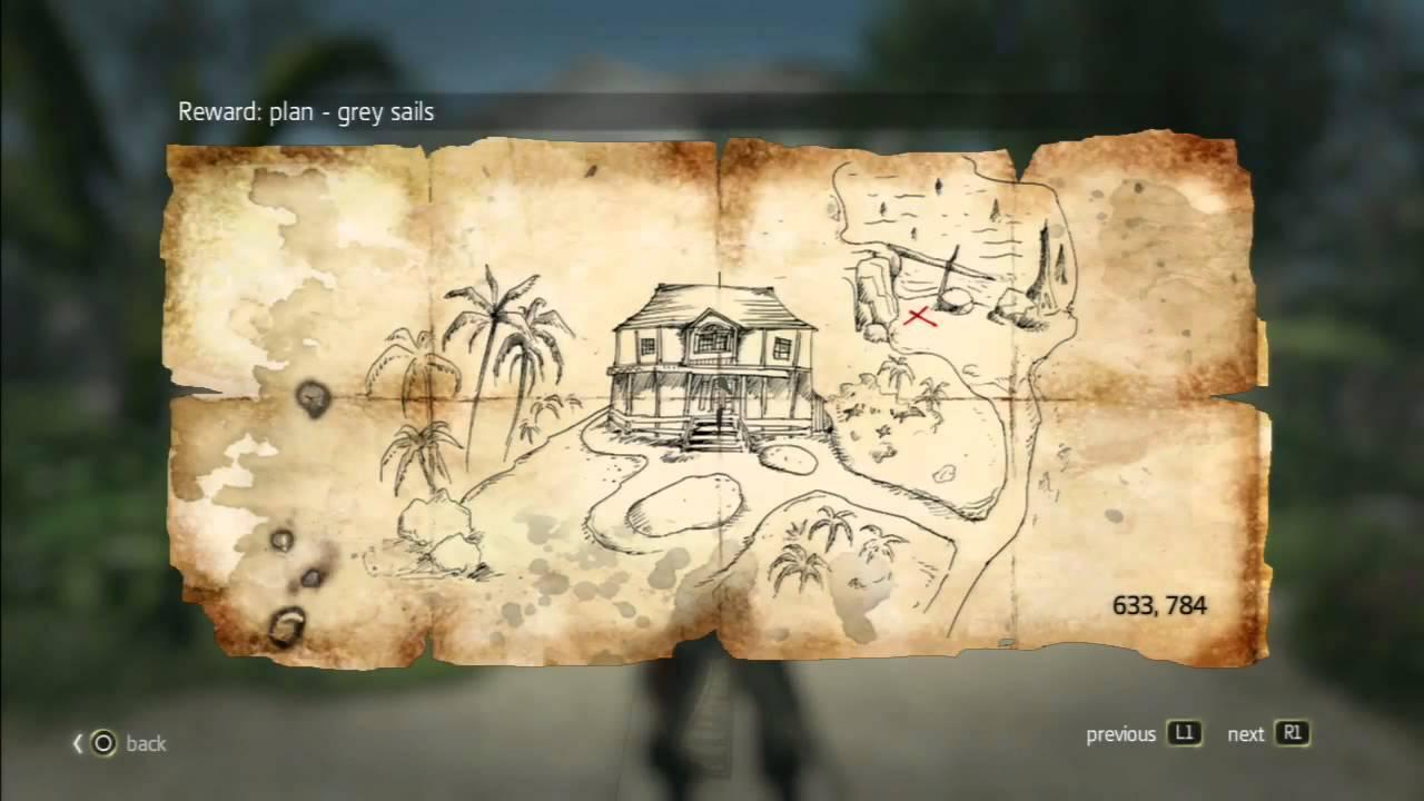 Assassin\'s Creed Black Flag Treasure Maps Assassin´s Creed 4   Treasure Map   633, 784 Nassau   YouTube Assassin\'s Creed Black Flag Treasure Maps