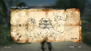 Assassin´s Creed 4 - Treasure Map - 633, 784 Nassau