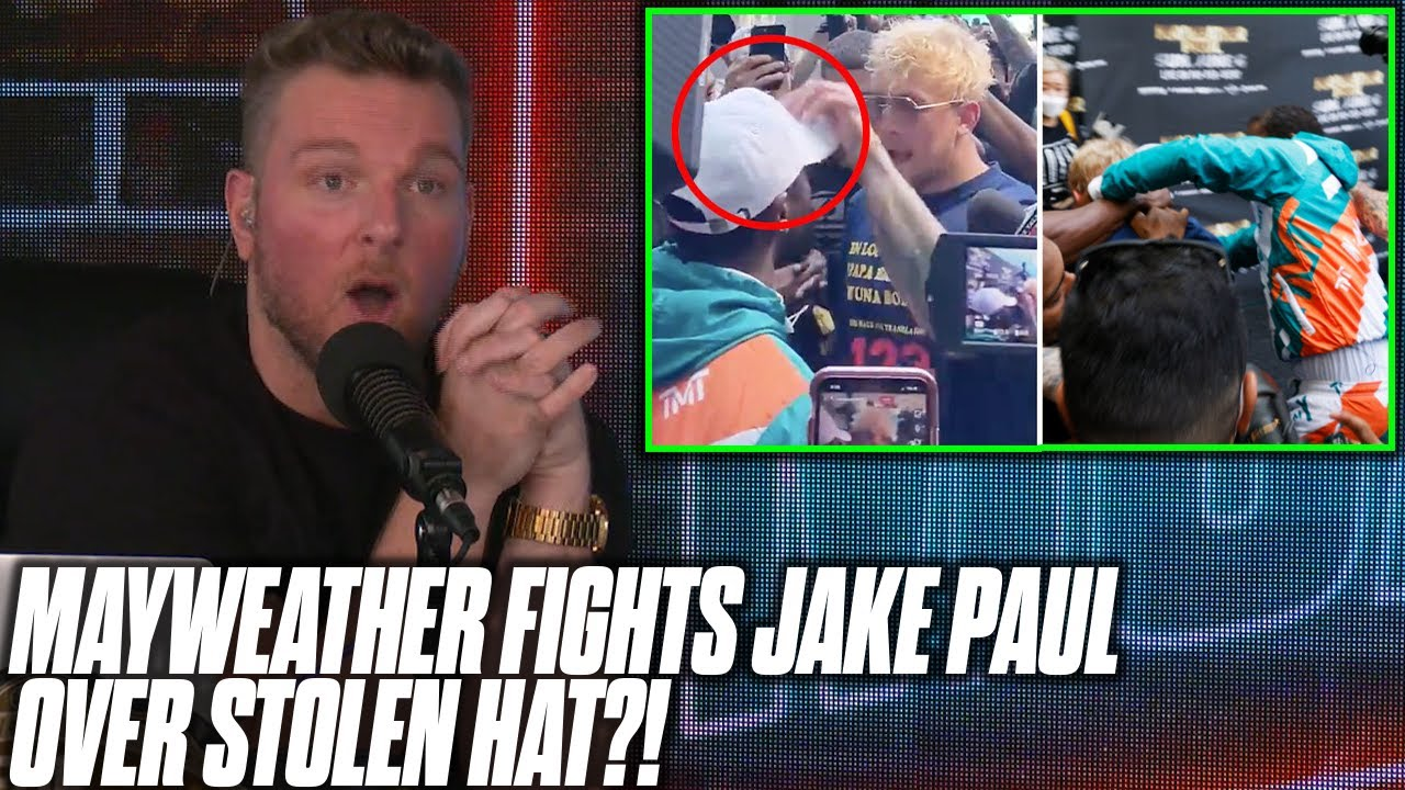 Pat McAfee Reacts To Jake Paul & Floyd Mayweather Fighting Over Stolen Hat