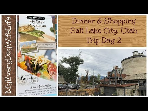 Dinner & Shopping || Salt Lake City, Utah || Trip Day 2