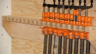 How To Make A Pipe Clamp Storage Rack