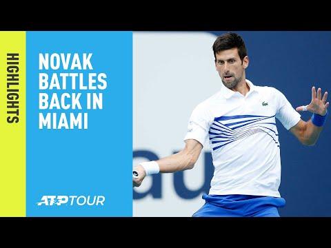 Highlights: Djokovic, Kyrgios Move Into R4 In Miami 2019