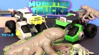 Мультики про Машинки. МОНСТРЫ УПРАВЛЯЮТ МАШИНКАМИ MONSTER TRUCKS. Машины для Детей #Видео для Детей