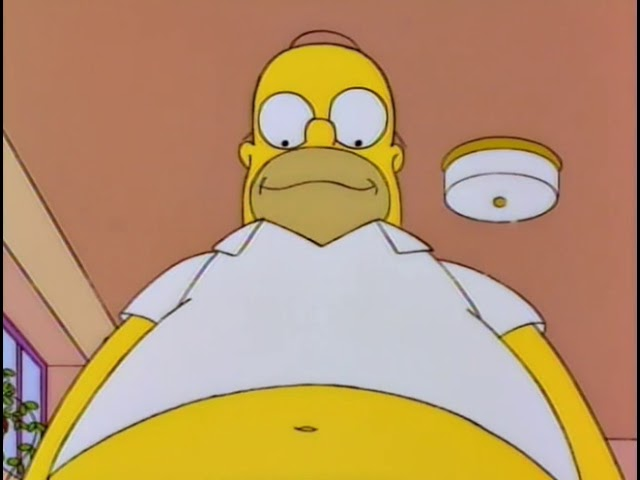 The Simpsons - Homer wants to get fat - buy massive weight gainer #1