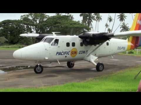 De Haviland Twin Otter Air Fiji Nadi to Savusavu in a (Pacific Sun Airlines)