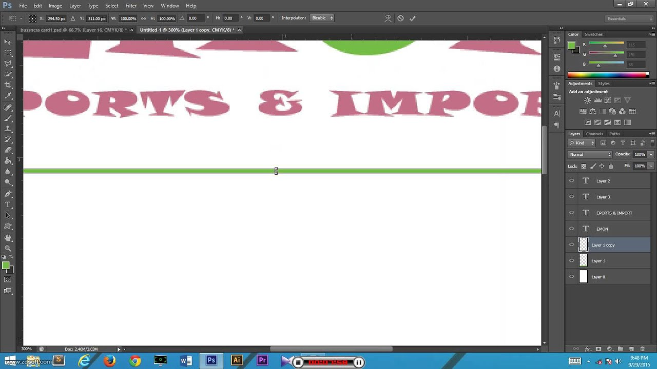 We make a business card by adobe photoshop cs6 youtube we make a business card by adobe photoshop cs6 reheart Images